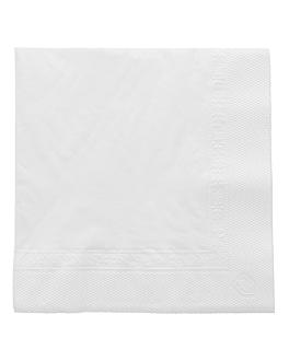 serviettes 2 plis 18 g/m2 25x25 cm blanc ouate (4800 unitÉ)