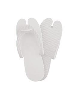 zapatillas 'eva' 28,5x11 cm blanco plÁstico (200 unid.)