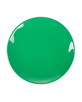 dishes Ø 23 cm green melamine (12 unit)
