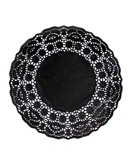 dentelles rondes ajourÉes 40 g/m2 Ø 19 cm noir papier (250 unitÉ)
