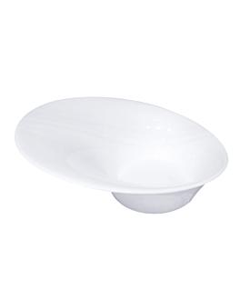 bols irrÉguliers 360 ml 20x18x7,5 cm blanc porcelaine (6 unitÉ)