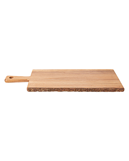 rectangular presentation tray 56x20,3x1,9 cm natural wood (6 unit)