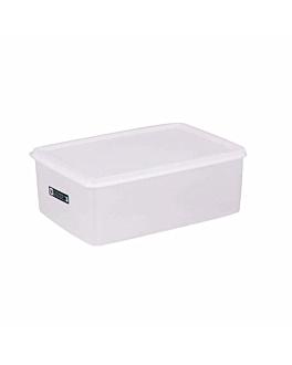 recipiente per alimenti + coperchio incluso 3150 ml 26x18x10 cm bianco pp (1 unitÀ)