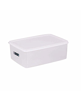 recipiente alimentos + tapa incorporada 3150 ml 26x18x10 cm blanco pp (1 unid.)