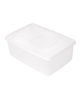 rÉcipient aliments + couvercle incorporÉ 3150 ml 26x18x10 cm blanc pp (1 unitÉ)