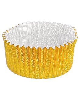 capsules 'petits fours' Ø 3,2x1,7 cm dore aluminium (1500 unitÉ)