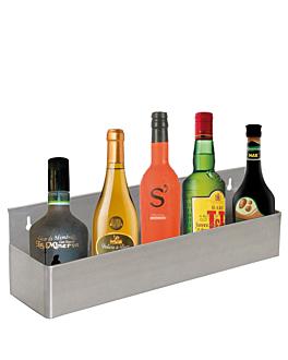 ÉtagÈre bar pour 5 bouteilles 56x10,5x15,2 cm argente inox (1 unitÉ)