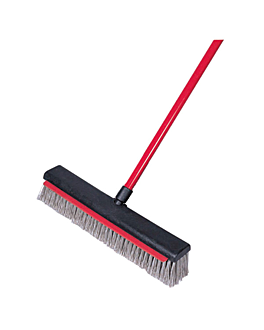 broom brush and handle 165x46x9 cm assorted pp (1 unit)