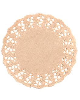round doilies 40 gsm Ø 14 cm natural kraft (250 unit)