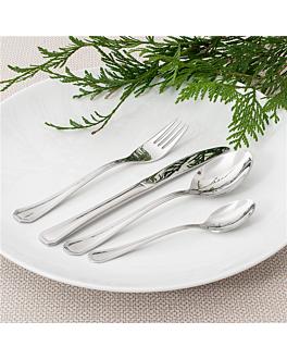tenedores de mesa 'coral' 19,5 cm plateado acero (12 unid.)