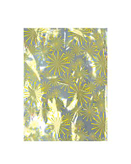 "metallic bag christmas - "" explosion "" 35x48 cm silver (100 unit)"