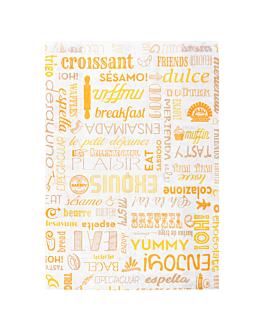 bolsas croissants 'parole' 35 g/m2 19+8x26 cm blanco celulosa (500 unid.)
