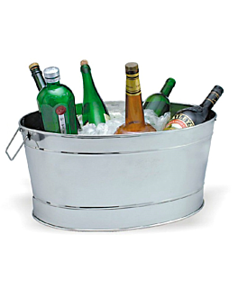 big ice bucket oval 52x36x24,5 cm silver stainless steel (1 unit)