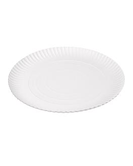 piatti goffrati pasticceria Ø 28 cm bianco cartone (50 unitÀ)