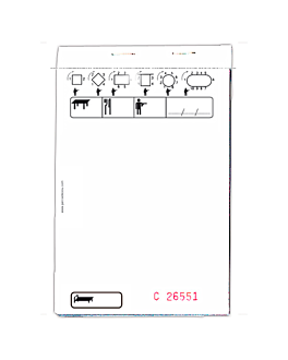 standard triplicate order pads 50x3 sheets 10x15 cm white self-copying (100 unit)
