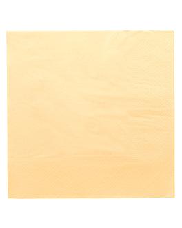 serviettes ecolabel 2 plis 18 g/m2 39x39 cm ivoire ouate (1600 unitÉ)