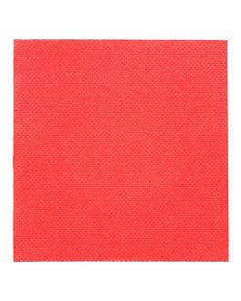 tovaglioli ecolabel 'double point' 18 g/m2 20x20 cm rosso tissue (2400 unitÀ)