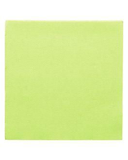 servilletas ecolabel 'double point' 18 g/m2 33x33 cm verde anÍs tissue (1200 unid.)