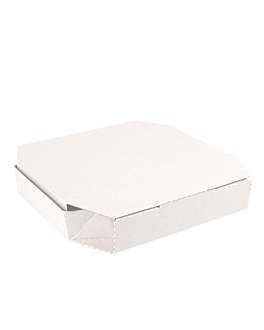 cajas octogonales 'thepack' 330 g/m2 26x26x3,8 cm blanco cartÓn ondulado microcanal (100 unid.)