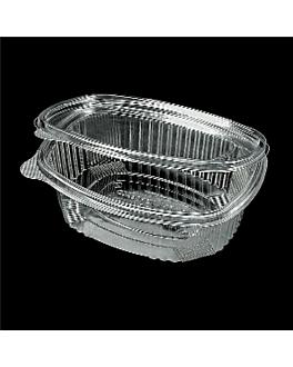 recipiente c/ tampa 1,5 l 21x15x8,4 cm transparente pet (400 unidade)
