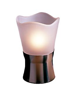 globo lÁmpara tulipa Ø 10x9 cm glaseado cristal (1 unid.)