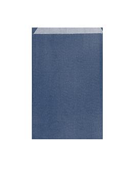 bolsas planas 19+8x35 cm azul marino kraft verjurado (250 unid.)