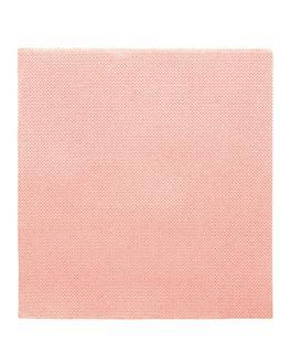 servilletas ecolabel 'double point' 18 g/m2 33x33 cm rosa tissue (1200 unid.)