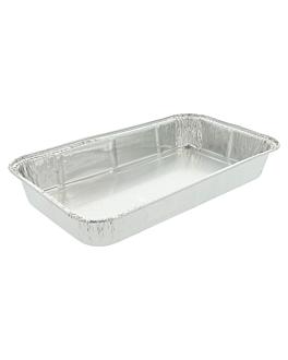 recipientes rectangulares 800 ml 23,9x13,9x3 cm aluminio (1000 unid.)