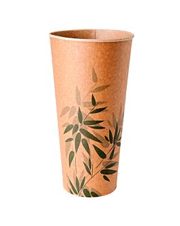 cups 'feel green' 22 oz - 660 ml 250 + 18 pe + 18 pe gsm Ø9x17 cm brown cardboard (1000 unit)