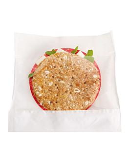 sacs avec base et fenÊtre 'kangoo pack' 40 g/m2 + 15 pp 14x16/12x3 cm blanc kraft (100 unitÉ)