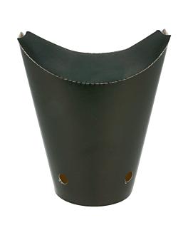 vasos fritas con cierre 16 oz - 480 ml 220 + 18 pe g/m2 8,5x14 cm negro cartoncillo (50 unid.)