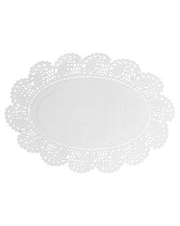 blondas ovales caladas 53 g/m2 22x16 cm blanco papel (250 unid.)