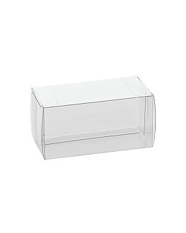 pastry cases 8x5x5 cm clear pvc (200 unit)