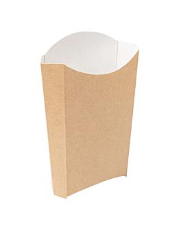 cajetillas fritas 'thepack' 190 g 220 g/m2 14,5x9,5x18 cm natural cartÓn ondulado nano-micro (1200 unid.)
