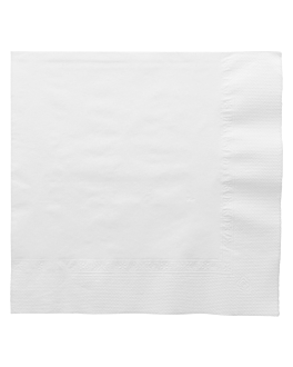 serviettes 3 plis 17 g/m2 40x40 cm blanc ouate (1000 unitÉ)
