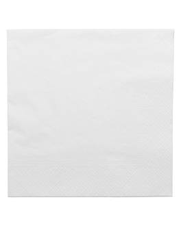 servilletas 3 capas 17 g/m2 40x40 cm blanco tissue (1000 unid.)
