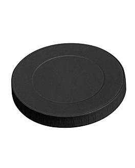 couvercles pour gobelets 280 g/m2 + pe Ø 8 cm noir carton (1000 unitÉ)