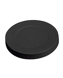 lids for cups 280 gsm + pe Ø 8 cm black cardboard (1000 unit)