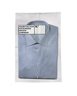 laundry service bags, self-adhesive closure 40µ 30x45 cm clear pp (500 unit)