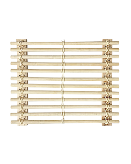presentation tablemat 32,5x26,5 cm natural bamboo (10 unit)