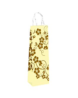 "10 u. wine bags, string handle ""nature"" 80 gsm 12,3+7,8x36 cm assorted cellulose (10 unit)"