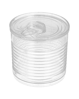 tin cans 60 ml Ø 5,1x4,8 cm clear ps (200 unit)