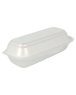 small hot-dog containers 21x10,5x6,4 cm white eps (500 unit)