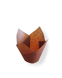 muffin cups 'tulip' 50 g/m2 11x11 cm marron parch.ingraissable (1000 unitÉ)