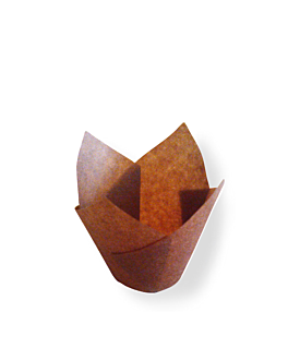 moldes cupcake 'tulip' 50 g/m2 11x11 cm marrÓn perg. antigrasas (1000 unid.)