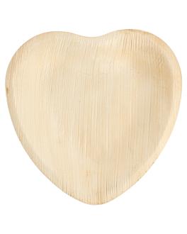 "assiettes ""coeur"" 'areca' 16,5x16,5x2,5 cm naturel areca (200 unitÉ)"