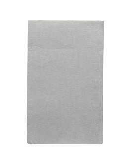 servilletas ecolabel p. 1/6 'double point' 18 g/m2 33x40 cm gris tissue (2000 unid.)