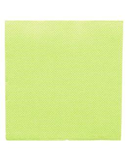 tovaglioli ecolabel 'double point' 18 g/m2 20x20 cm verde anice tissue (2400 unitÀ)