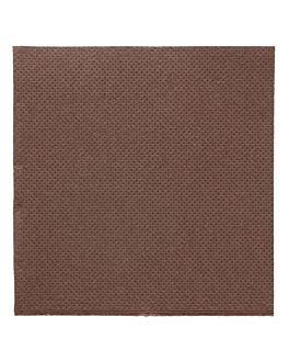 tovaglioli ecolabel 'double point' 18 g/m2 20x20 cm cioccolato tissue (2400 unitÀ)