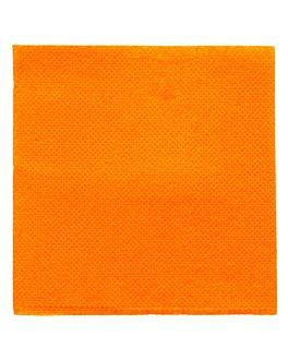tovaglioli ecolabel 'double point' 18 g/m2 20x20 cm arancio chiaro tissue (2400 unitÀ)